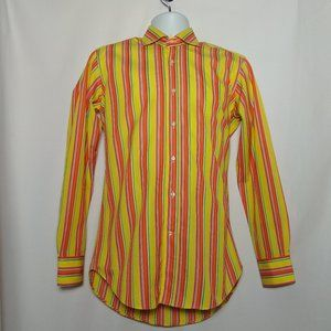 Etro Size 38 Multi Color Striped Shirt Italy EXC